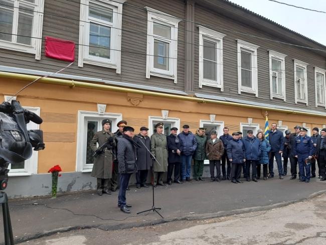 Мемориальную доску в честь 100-летнего юбилея со дня основания Отечественной Школы стрельбы по воздушному флоту открыли в Нижнем Новгороде