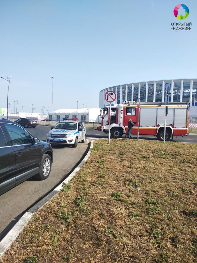 Image for Иномарка перевернулась в результате аварии напротив стадиона «Нижний Новгород»