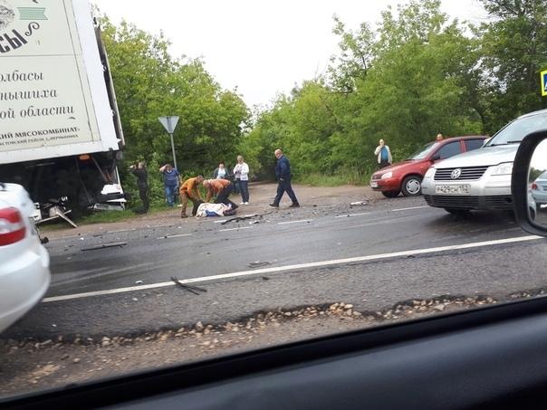 Image for Опубликованы фото и видео столкновения грузовика с автобусом в Дзержинске