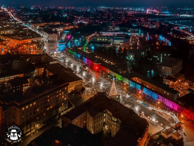 Image for Нижегородец сфотографировал новую подсветку Кремля с квадрокоптера