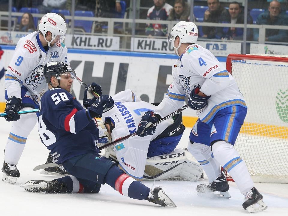 «Торпедо» проиграло дома «Барысу» в матче КХЛ