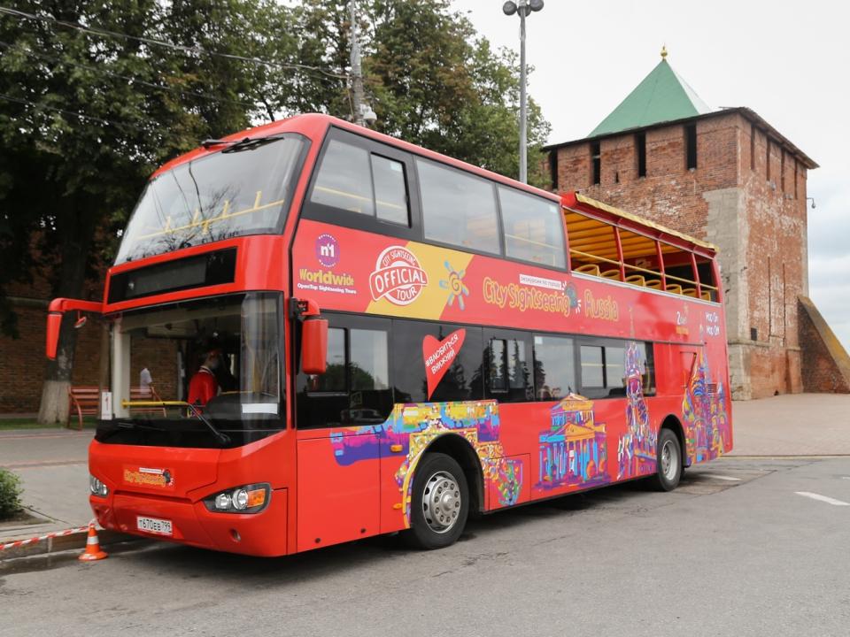 Image for Двухэтажный автобус останется в Нижнем Новгороде до 13 сентября