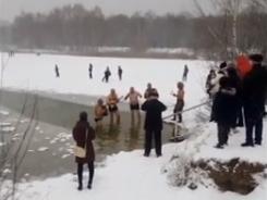 Нижегородские моржи открыли сезон