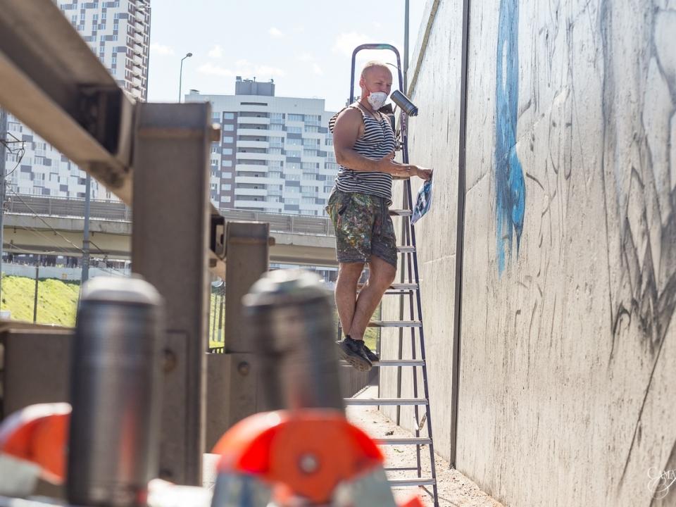 Image for Окский съезд превратился в галерею граффити