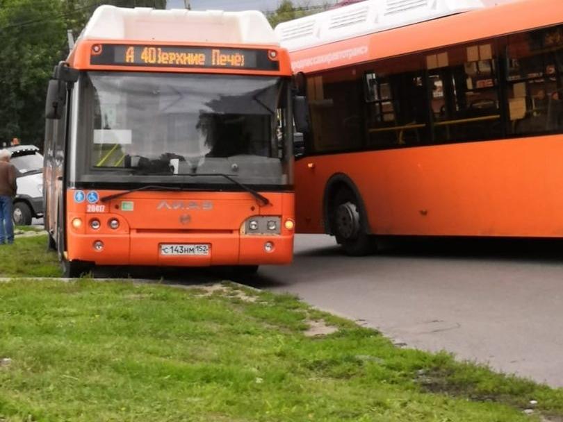 Два автобуса с пассажирами попали в ДТП на Южном шоссе в Нижнем