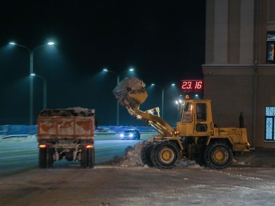 139 кубометров снега вывезли за сутки с нижегородских улиц